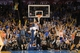 Apr 3, 2014; Oklahoma City, OK, USA; Oklahoma City Thunder guard Russell Westbrook (0) dunks the ball against the San Antonio Spurs during the fourth quarter at Chesapeake Energy Arena. Mandatory Credit: Mark D. Smith-USA TODAY Sports