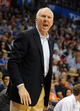 Apr 3, 2014; Oklahoma City, OK, USA; San Antonio Spurs head coach Gregg Popovich reacts to a call in action against the Oklahoma City Thunder during the fourth quarter at Chesapeake Energy Arena. Mandatory Credit: Mark D. Smith-USA TODAY Sports