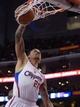 Apr 3, 2014; Los Angeles, CA, USA;  Los Angeles Clippers forward Matt Barnes (22) dunks during the first half of the game against the Dallas Mavericks at Staples Center. Mandatory Credit: Jayne Kamin-Oncea-USA TODAY Sports