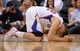 Apr 3, 2014; Los Angeles, CA, USA;   Los Angeles Clippers forward Blake Griffin (32) pound his fist on the court after going down in the second half of the game against the Dallas Mavericks at Staples Center. Mavericks won 113-107. Mandatory Credit: Jayne Kamin-Oncea-USA TODAY Sports