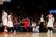 Apr 4, 2014; New York, NY, USA; Washington Wizards point guard John Wall (2) reacts after taking the lead against the New York Knicks during the fourth quarter of a game at Madison Square Garden. The Wizards defeated the Knicks 90-89. Mandatory Credit: Brad Penner-USA TODAY Sports