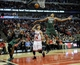 Apr 4, 2014; Chicago, IL, USA;  Chicago Bulls guard D.J. Augustin (14) Milwaukee Bucks guard Giannis Antetokounmpo (34) andforward Khris Middleton (22) go for a loose ball during the second half at the United Center. The Chicago Bulls defeated the Milwaukee Bucks 102-90. Mandatory Credit: David Banks-USA TODAY Sports