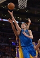 Apr 4, 2014; Los Angeles, CA, USA; Dallas Mavericks forward Dirk Nowitzki (41) shoots the ball against the Los Angeles Lakers at Staples Center. Mandatory Credit: Kirby Lee-USA TODAY Sports