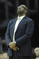 Apr 5, 2014; Cleveland, OH, USA; Cleveland Cavaliers head coach Mike Brown reacts from the sidelines in the third quarter against the Charlotte Bobcats at Quicken Loans Arena. Mandatory Credit: David Richard-USA TODAY Sports