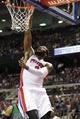 Apr 5, 2014; Auburn Hills, MI, USA; Detroit Pistons center Andre Drummond (0) dunks during the third quarter against the Boston Celtics at The Palace of Auburn Hills. Pistons beat the Celtics 115-111. Mandatory Credit: Raj Mehta-USA TODAY Sports