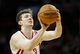 Apr 6, 2014; Houston, TX, USA; Houston Rockets center Omer Asik (3) shoots a free throw during the first quarter against the Denver Nuggets at Toyota Center. Mandatory Credit: Andrew Richardson-USA TODAY Sports