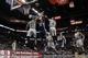 Apr 6, 2014; San Antonio, TX, USA; Memphis Grizzlies forward Zach Randolph (50) shoots the ball over San Antonio Spurs forward Tim Duncan (21) during the second half at AT&T Center. The Spurs won 112-92. Mandatory Credit: Soobum Im-USA TODAY Sports