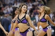 Apr 8, 2014; Sacramento, CA, USA; Cheerleaders from the Sacramento Kings perform during a timeout against the Oklahoma City Thunder in the third quarter at Sleep Train Arena. The Thunder defeated the Kings 107-92. Mandatory Credit: Cary Edmondson-USA TODAY Sports
