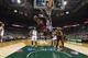Apr 11, 2014; Milwaukee, WI, USA; Cleveland Cavaliers guard Kyrie Irving (2) shoots as Milwaukee Bucks forward Jeff Adrien (12) defends during the fourth quarter at BMO Harris Bradley Center.  Milwaukee won 119-116.  Mandatory Credit: Jeff Hanisch-USA TODAY Sports