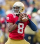 Apr 12, 2014; Notre Dame, IN, USA; Notre Dame Fighting Irish quarterback Malik Zaire (8) looks to pass in the second quarter of the Blue-Gold game at Notre Dame Stadium. Mandatory Credit: Matt Cashore-USA TODAY Sports