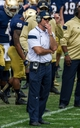 Apr 12, 2014; Notre Dame, IN, USA; Notre Dame Fighting Irish defensive coordinator Brian VanGorder watches from the sideline in the first quarter of the Blue-Gold Game at Notre Dame Stadium. Mandatory Credit: Matt Cashore-USA TODAY Sports