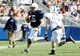 Apr 12, 2014; State College, PA, USA; Penn State Nittany Lions quarterback Michael O'Connor (15) runs with the ball in the fourth quarter of the Blue White spring game at Beaver Stadium. The Blue team defeated the White team 37-0. Mandatory Credit: Matthew O'Haren-USA TODAY Sports