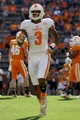Apr 12, 2014; Knoxville, TN, USA; Tennessee Volunteers wide receiver Josh Malone (3) runs on the field during the spring game at Neyland Stadium. Mandatory Credit: Randy Sartin-USA TODAY Sports