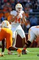 Apr 12, 2014; Knoxville, TN, USA; Tennessee Volunteers quarterback Justin Worley (14) prepares to take a snap during the spring game at Neyland Stadium. Mandatory Credit: Randy Sartin-USA TODAY Sports