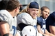 Apr 12, 2014; State College, PA, USA; Penn State Nittany Lions guard Derek Dowrey (53) looks on from the bench in the third quarter of the Blue White spring game at Beaver Stadium. The Blue team defeated the White team 37-0. Mandatory Credit: Matthew O'Haren-USA TODAY Sports