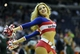 Apr 12, 2014; Washington, DC, USA; Washington Wizards dancer performs during the game against the Milwaukee Bucks during the first half at Verizon Center. Mandatory Credit: Brad Mills-USA TODAY Sports