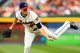 Apr 12, 2014; Atlanta, GA, USA; Atlanta Braves relief pitcher Alex Wood (40) pitches in the second inning against the Washington Nationals at Turner Field. Mandatory Credit: Daniel Shirey-USA TODAY Sports