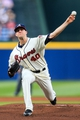Apr 12, 2014; Atlanta, GA, USA; Atlanta Braves relief pitcher Alex Wood (40) pitches in the first inning against the Washington Nationals at Turner Field. Mandatory Credit: Daniel Shirey-USA TODAY Sports