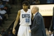 Apr 12, 2014; Charlotte, NC, USA; Charlotte Bobcats guard Chris Douglas-Roberts (55) talks with Charlotte head coach Steve Clifford during the second half against the Philadelphia 76ers at Time Warner Cable Arena. The Bobcats defeated the 76ers 111-105. Mandatory Credit: Jeremy Brevard-USA TODAY Sports