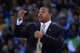 Apr 6, 2014; Oakland, CA, USA; Golden State Warriors head coach Mark Jackson instructs against the Utah Jazz during the third quarter at Oracle Arena. The Warriors defeated the Jazz 130-102. Mandatory Credit: Kyle Terada-USA TODAY Sports