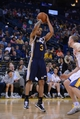 Apr 6, 2014; Oakland, CA, USA; Utah Jazz guard Trey Burke (3) shoots the basketball against the Golden State Warriors during the fourth quarter at Oracle Arena. The Warriors defeated the Jazz 130-102. Mandatory Credit: Kyle Terada-USA TODAY Sports