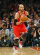 Apr 13, 2014; New York, NY, USA;  Chicago Bulls forward Taj Gibson (22) brings the ball up court during the first half against the New York Knicks at Madison Square Garden. Mandatory Credit: Jim O'Connor-USA TODAY Sports