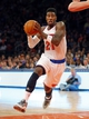 Apr 13, 2014; New York, NY, USA;  New York Knicks guard Iman Shumpert (21) drives to the basket during the second half against the Chicago Bulls at Madison Square Garden. New York Knicks defeat the Chicago Bulls 100-89. Mandatory Credit: Jim O'Connor-USA TODAY Sports