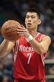 Apr 11, 2014; Minneapolis, MN, USA; Houston Rockets guard Jeremy Lin (7) shoots at Target Center. The Minnesota Timberwolves win 112-110. Mandatory Credit: Brad Rempel-USA TODAY Sports