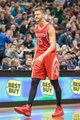Apr 11, 2014; Minneapolis, MN, USA; Houston Rockets forward Chandler Parsons (25) walks off the court against the Minnesota Timberwolves at Target Center. The Minnesota Timberwolves win 112-110. Mandatory Credit: Brad Rempel-USA TODAY Sports