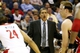Apr 14, 2014; Washington, DC, USA; Washington Wizards head coach Randy Wittman yells from the sidelines against the Miami Heat in the fourth quarter at Verizon Center. The Wizards won 114-93. Mandatory Credit: Geoff Burke-USA TODAY Sports