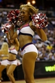 Apr 14, 2014; Washington, DC, USA; Washington Wizards Girls dance on the court during a stoppage in play against the Miami Heat in the second quarter at Verizon Center. The Wizards won 114-93. Mandatory Credit: Geoff Burke-USA TODAY Sports