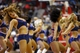 Apr 14, 2014; Washington, DC, USA; Washington Wizards Girls dance on the court during a stoppage in play against the Miami Heat in the third quarter at Verizon Center. The Wizards won 114-93. Mandatory Credit: Geoff Burke-USA TODAY Sports
