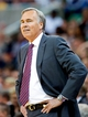 Apr 14, 2014; Salt Lake City, UT, USA; Los Angeles Lakers head coach Mike D'Antoni during the first half against the Utah Jazz at EnergySolutions Arena. Mandatory Credit: Russ Isabella-USA TODAY Sports