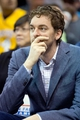 Apr 14, 2014; Salt Lake City, UT, USA; Los Angeles Lakers center Pau Gasol watches from the bench during the second half against the Utah Jazz at EnergySolutions Arena. The Lakers won 119-104. Mandatory Credit: Russ Isabella-USA TODAY Sports