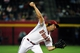 Apr 14, 2014; Phoenix, AZ, USA; Arizona Diamondbacks pitcher Mike Bolsinger (49) throws during the fifth inning against the New York Mets at Chase Field. Mandatory Credit: Matt Kartozian-USA TODAY Sports