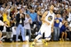 Apr 14, 2014; Oakland, CA, USA; Golden State Warriors guard Stephen Curry (30) after a basket against the Minnesota Timberwolves during the third quarter at Oracle Arena. The Golden State Warriors defeated the Minnesota Timberwolves 130-120. Mandatory Credit: Kelley L Cox-USA TODAY Sports