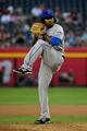 Apr 15, 2014; Phoenix, AZ, USA; New York Mets starting pitcher Jenrry Mejia throws during the first inning against the Arizona Diamondbacks at Chase Field. Mandatory Credit: Matt Kartozian-USA TODAY Sports