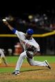 Apr 15, 2014; Phoenix, AZ, USA; New York Mets relief pitcher Gonzalez Germen throws during the eighth inning against the Arizona Diamondbacks at Chase Field. Mandatory Credit: Matt Kartozian-USA TODAY Sports