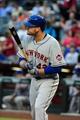 Apr 15, 2014; Phoenix, AZ, USA; New York Mets first baseman Lucas Duda at bat during the first inning against the Arizona Diamondbacks at Chase Field. Mandatory Credit: Matt Kartozian-USA TODAY Sports