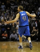 Apr 16, 2014; Memphis, TN, USA; Dallas Mavericks forward Dirk Nowitzki (41) reacts during the game against the Memphis Grizzlies at FedExForum. Memphis Grizzlies beat the Dallas Mavericks in overtime 106 - 105. Mandatory Credit: Justin Ford-USA TODAY Sports