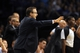Apr 16, 2014; Oklahoma City, OK, USA;  Oklahoma City Thunder head coach Scott Brooks directs his team in action against the Detroit Pistons at Chesapeake Energy Arena. Mandatory Credit: Mark D. Smith-USA TODAY Sports