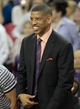 Apr 16, 2014; Sacramento, CA, USA; Sacramento mayor and retired NBA player Kevin Johnson is recognized during a timeout during the second quarter in the game between the Sacramento Kings and the Phoenix Suns at Sleep Train Arena. Mandatory Credit: Kelley L Cox-USA TODAY Sports
