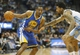 Apr 16, 2014; Denver, CO, USA; Golden State Warriors guard Jordan Crawford (55) with the ball against Denver Nuggets Wilson Chandler (right) during the second half at Pepsi Center.  The Warriors won 116-112.  Mandatory Credit: Chris Humphreys-USA TODAY Sports