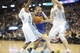 Apr 16, 2014; Denver, CO, USA; Golden State Warriors guard Steve Blake (25) drives to the basket between Denver Nuggets guard Aaron Brooks (0) and center Timofey Mozgov (25) during the second half at Pepsi Center.  The Warriors won 116-112.  Mandatory Credit: Chris Humphreys-USA TODAY Sports