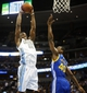 Apr 16, 2014; Denver, CO, USA; Denver Nuggets forward Kenneth Faried (35) goes up to dunk the ball during the first quarter against the Golden State Warriors at Pepsi Center. Mandatory Credit: Chris Humphreys-USA TODAY Sports