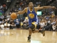 Apr 16, 2014; Denver, CO, USA; Golden State Warriors guard Jordan Crawford (55) during the second half against the Denver Nuggets at Pepsi Center.  The Warriors won 116-112. Mandatory Credit: Chris Humphreys-USA TODAY Sports