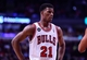 Apr 14, 2014; Chicago, IL, USA; Chicago Bulls guard Jimmy Butler (21) during the second half at the United Center. Mandatory Credit: Mike DiNovo-USA TODAY Sports