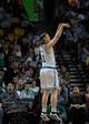 Apr 16, 2014; Boston, MA, USA; Boston Celtics center Kelly Olynyk (41) shoots the ball during the second half against the Washington Wizards at TD Garden. Mandatory Credit: Bob DeChiara-USA TODAY Sports