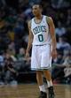 Apr 16, 2014; Boston, MA, USA; Boston Celtics guard Avery Bradley (0) during the second half against the Washington Wizards at TD Garden. Mandatory Credit: Bob DeChiara-USA TODAY Sports