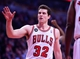 Apr 14, 2014; Chicago, IL, USA; Chicago Bulls guard Jimmer Fredette (32) during the second quarter at the United Center. Mandatory Credit: Mike DiNovo-USA TODAY Sports